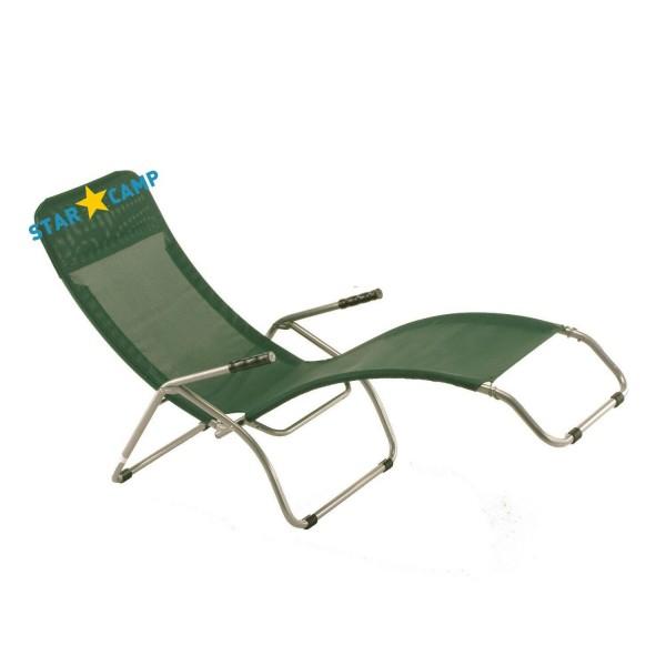 Poltrona Basculante Pasha.Sedia A Sdraio Basculante Con Poggiatesta Verde