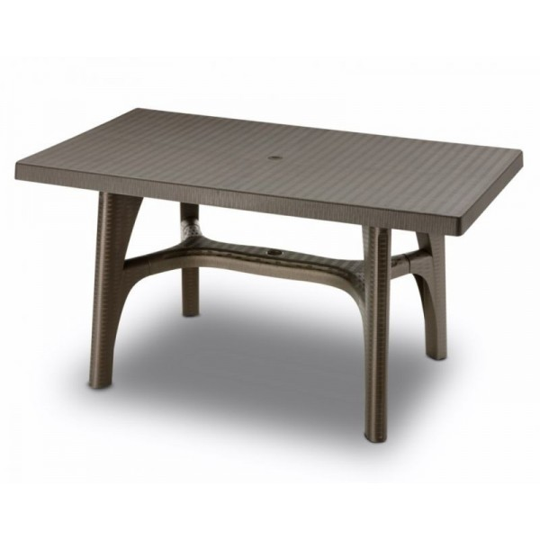 Tavolo intrecciato 140x80 rettangolare bronzo
