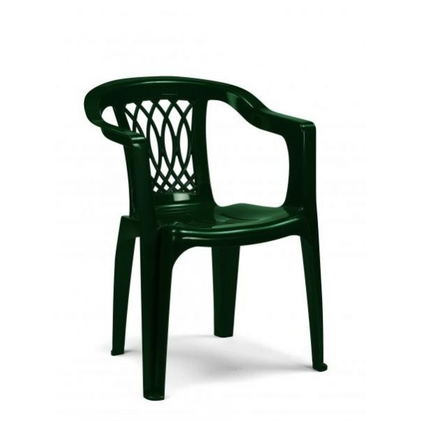 Poltrona extra giada verde b. blocco da 4 sedie