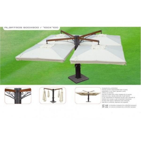 Ombrellone Albatros 6x6 mt. Multiplo