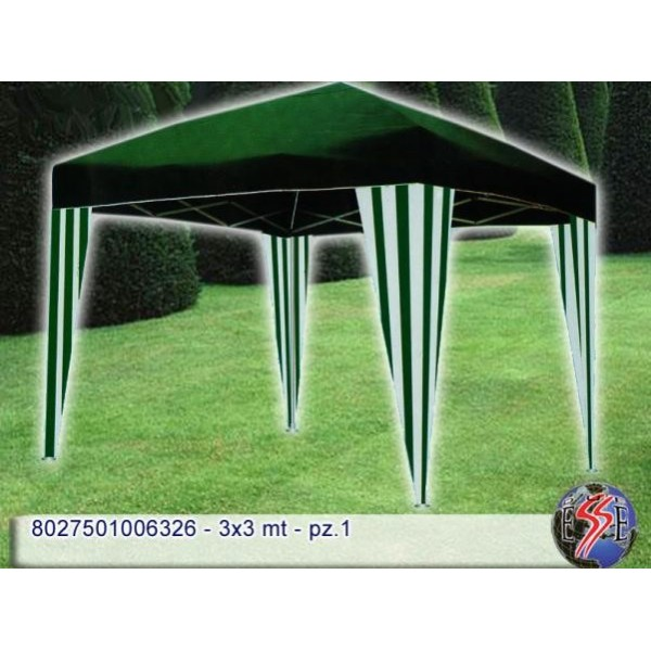 Gazebo richiudibile 3x3mt. verde